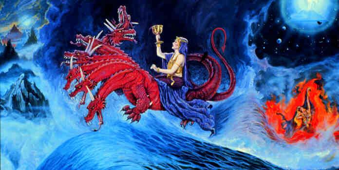 Antichrist menurut penglihatan Yohanes (Perempuan menunggang Binatang) Beast-woman
