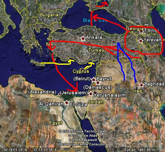 The Garden Of Eden And The Pit Tioran Land Drift Theory - Tigris and euphrates river map