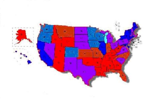 Purple America Map.The Woman In Purple And The End Of America Heaven Awaits