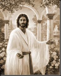 jesus in white