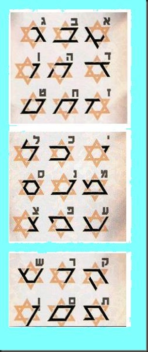 star of david and letters