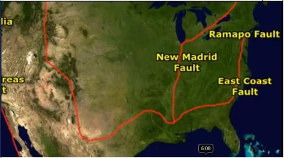 East Coast Of America Fault Line Heaven Awaits - Fault line map us