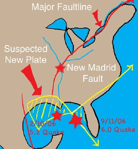 ... also East Coast Fault Line Map. on map of east coast fault lines